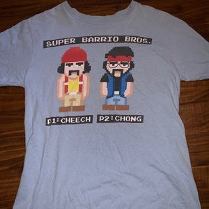 Check and Chong Mario bros graphic Tee